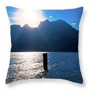 Lago Di Garda At Sunset View Throw Pillow