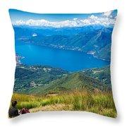 Lago Maggiore Italy Switzerland Throw Pillow