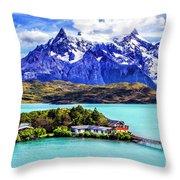 Lago Pehoe Throw Pillow