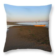 Lagoon At Low Tide Throw Pillow