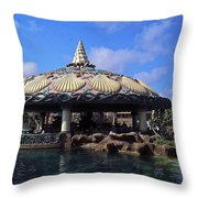 Lagoon Bar And Grill Throw Pillow