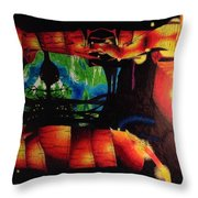 Lagoon Of The Lost Boys Throw Pillow
