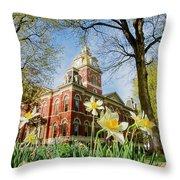 Lagrange County Courthouse Throw Pillow