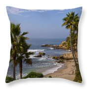 Laguna Beach Coastline Throw Pillow