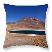 Laguna Miniques And Miniques Volcano Chile Throw Pillow