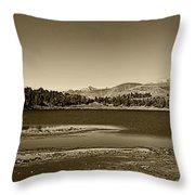 Laguna Mucubaji - Andes Throw Pillow