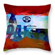 Laguna Seca Racing Cars 1 Throw Pillow