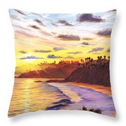 Laguna Village Sunset Throw Pillow