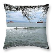 Lahaina Beach Throw Pillow