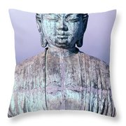 Lahaina Buddha At Jodo  Throw Pillow