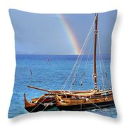 Lahaina Harbor Throw Pillow