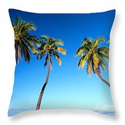 Lahaina Palms Throw Pillow