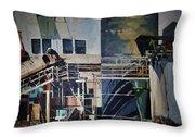 Lahaina Sugar Mill Throw Pillow