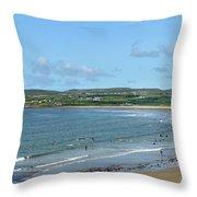 Lahinch Beach Throw Pillow