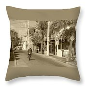 Laid Back Key West Throw Pillow