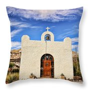 Lajitas Chapel 1 Throw Pillow