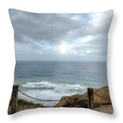 La Jolla Cliffs Throw Pillow