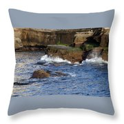 Lajolla Rocks Throw Pillow