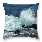 Lajolla Surf Throw Pillow