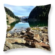 Lake Agnes Tea House Throw Pillow
