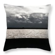 Lake And Clouds Throw Pillow