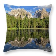 Lake Antorno Throw Pillow by Yair Karelic