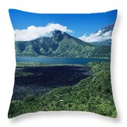 Lake Batur Throw Pillow