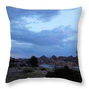 Lake Before A Storm Throw Pillow