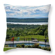Lake Bellaire, Bellaire Michigan Throw Pillow