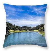 Lake Berressa Under Bridge Throw Pillow