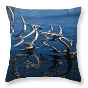 Lake Birds Throw Pillow