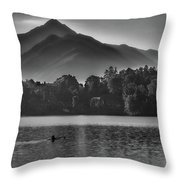Lake Bled Rower - Slovenia Throw Pillow