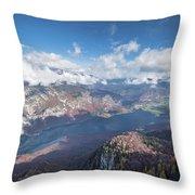 Lake Bohinj From Mount Vogel Throw Pillow