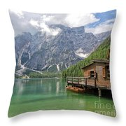 Lake Braies Throw Pillow