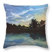 Lake Bridgeland Throw Pillow