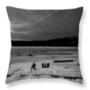 Lake Bw Throw Pillow