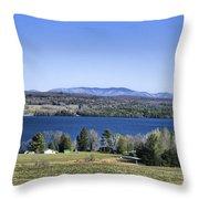 Lake Carmi Campers Delight Throw Pillow