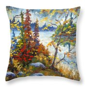 Lake Cartier Throw Pillow