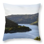 Lake Chabot On A Sunny Day Throw Pillow