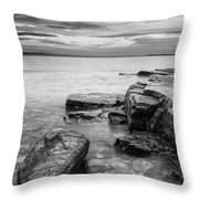 Lake Champlain-vermont-sunrise-storm Throw Pillow