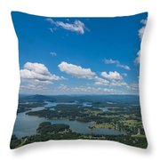 Lake Chatuge Throw Pillow