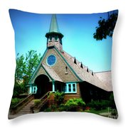 Lake Church Throw Pillow