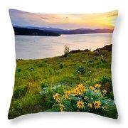 Lake Coeur D'alene Spring Throw Pillow