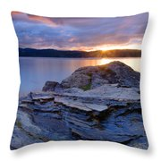 Lake Coeur D'alene Sunset Throw Pillow