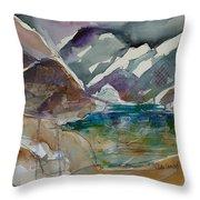 Lake Collage Throw Pillow