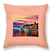 Lake Como - Bellagio  Throw Pillow