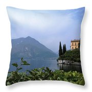 Lake Como - Varenna - Villa Cipressi Throw Pillow
