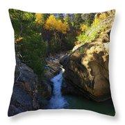 Lake Creek Falls Throw Pillow