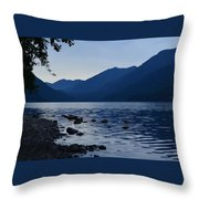 Lake Crescent Throw Pillow