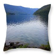 Lake Crescent - Digital Painting Throw Pillow